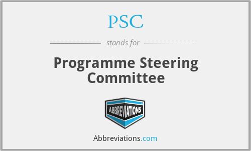 PSC - Programme Steering Committee