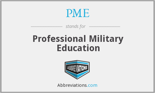 PME - Professional Military Education