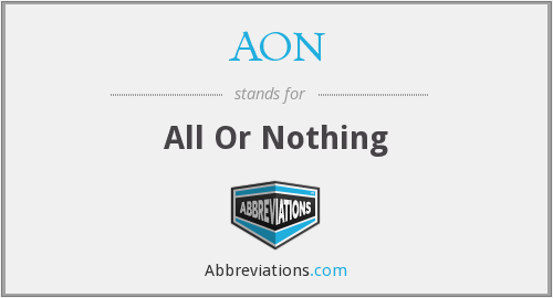 AON - All Or Nothing