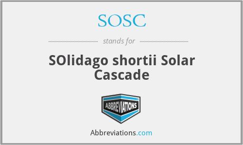 SOSC - SOlidago shortii Solar Cascade