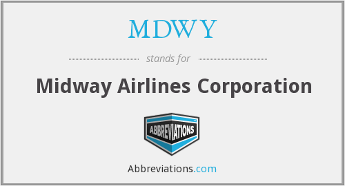 What does MDWY stand for?