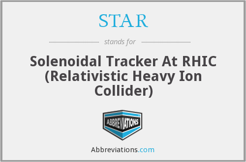 STAR - Solenoidal Tracker At RHIC (Relativistic Heavy Ion Collider)
