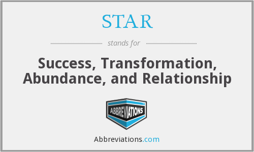 STAR - Success, Transformation, Abundance, and Relationship