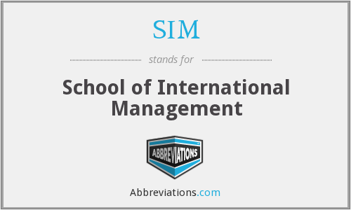 SIM - School of International Management