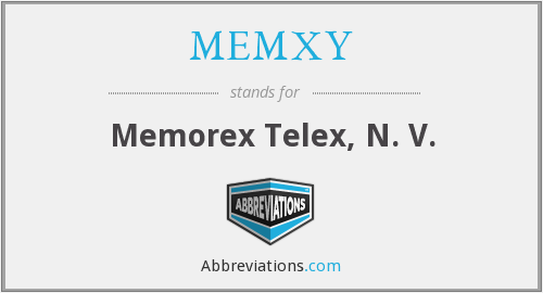 What does MEMXY stand for?