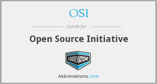 OSI - Open Source Initiative