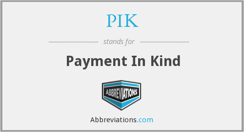 PIK - Payment In Kind