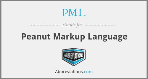 PML - Peanut Markup Language