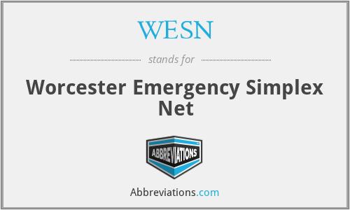 WESN - Worcester Emergency Simplex Net