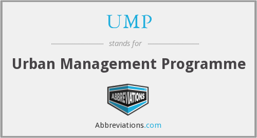 UMP - Urban Management Programme