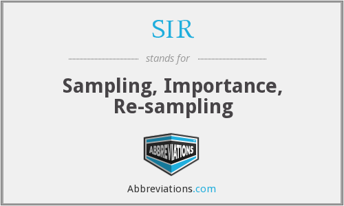 SIR - Sampling, Importance, Re-sampling