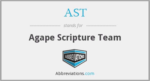 AST - Agape Scripture Team