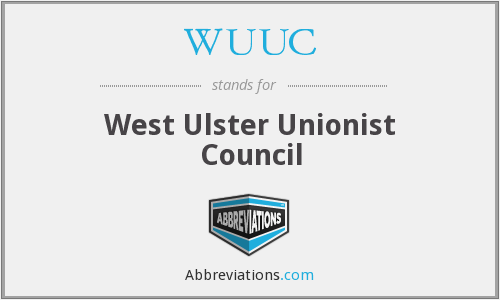 WUUC - West Ulster Unionist Council