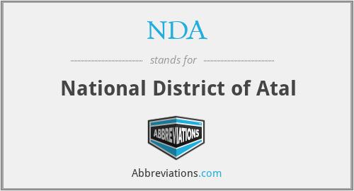 NDA - National District of Atal