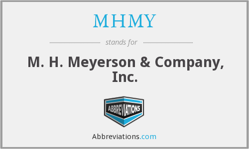 MHMY - M. H. Meyerson & Company, Inc.