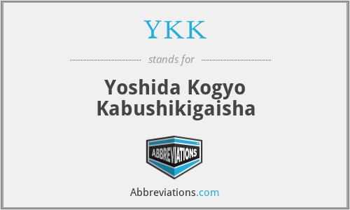 YKK - Yoshida Kogyo Kabushikigaisha