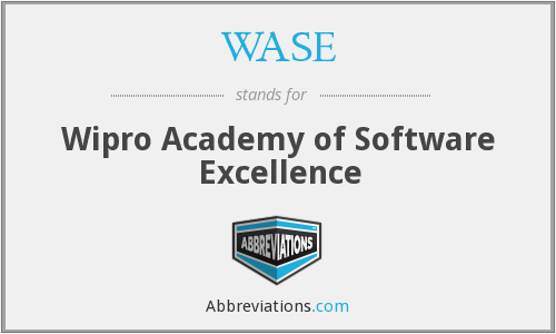 WASE - Wipro Academy of Software Excellence