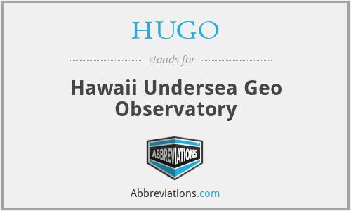 HUGO - Hawaii Undersea Geo Observatory