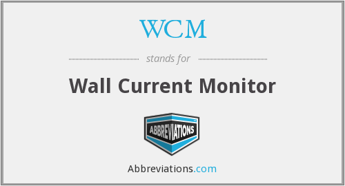 WCM - Wall Current Monitor
