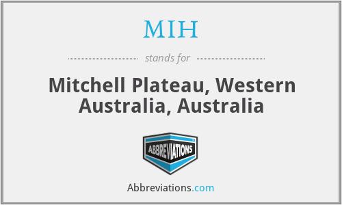 MIH - Mitchell Plateau, Western Australia, Australia