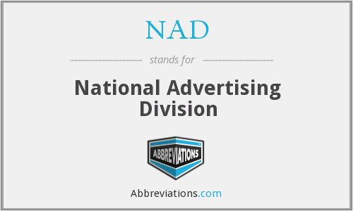 NAD - National Advertising Division
