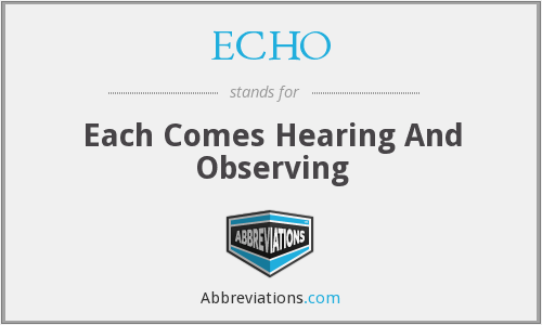 ECHO - Each Comes Hearing And Observing