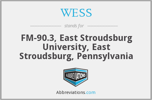 WESS - FM-90.3, East Stroudsburg University, East Stroudsburg, Pennsylvania