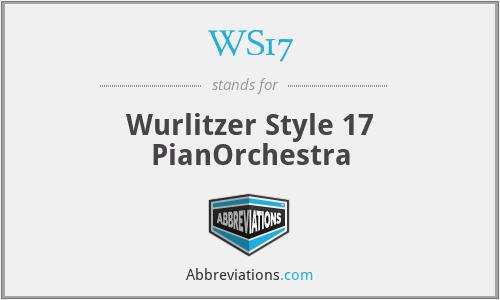 WS17 - Wurlitzer Style 17 PianOrchestra