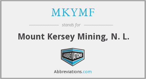 What does MKYMF stand for?