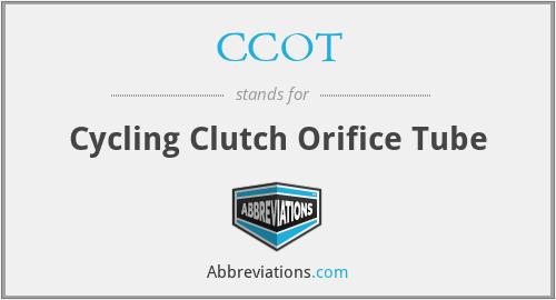 CCOT - Cycling Clutch Orifice Tube