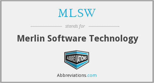 MLSW - Merlin Software Technology