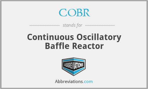COBR - Continuous Oscillatory Baffle Reactor