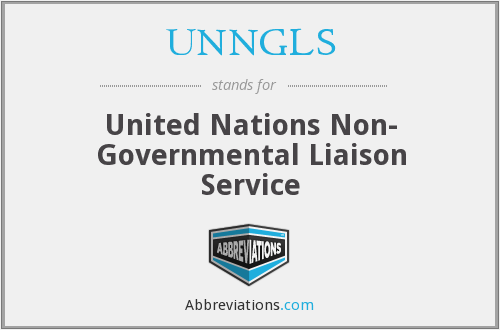 UNNGLS - United Nations Non- Governmental Liaison Service