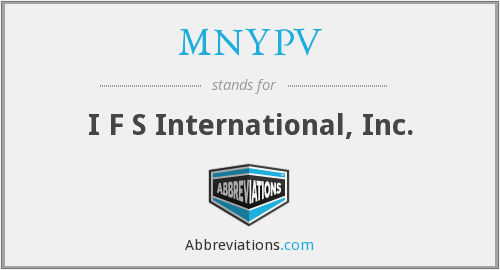 What does MNYPV stand for?