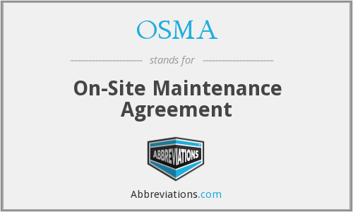 What does OSMA stand for?