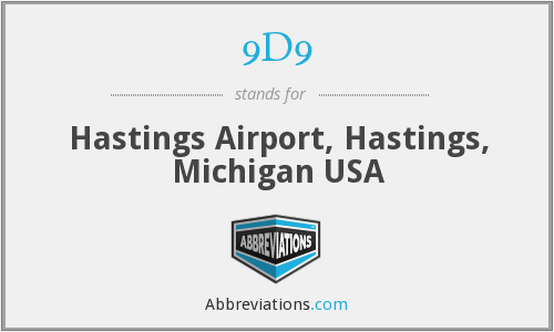 9D9 - Hastings Airport, Hastings, Michigan USA
