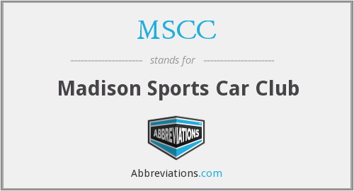 MSCC - Madison Sports Car Club