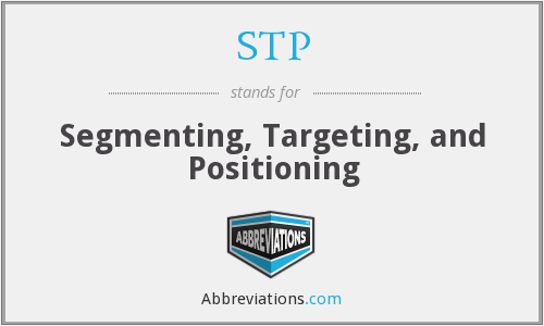 STP - Segmenting, Targeting, and Positioning