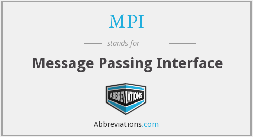 MPI - Message Passing Interface