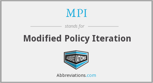 MPI - Modified Policy Iteration