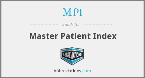 MPI - Master Patient Index