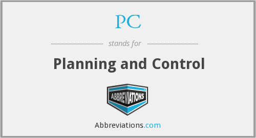 PC - Planning and Control