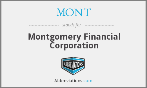 MONT - Montgomery Financial Corporation