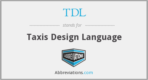 TDL - Taxis Design Language