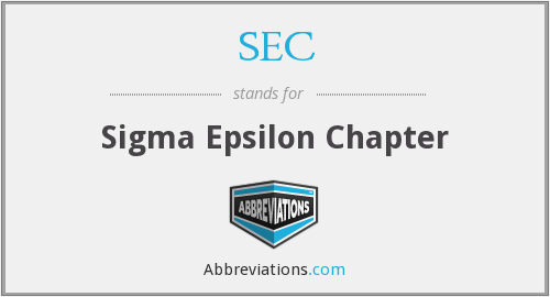 SEC - Sigma Epsilon Chapter