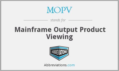 MOPV - Mainframe Output Product Viewing