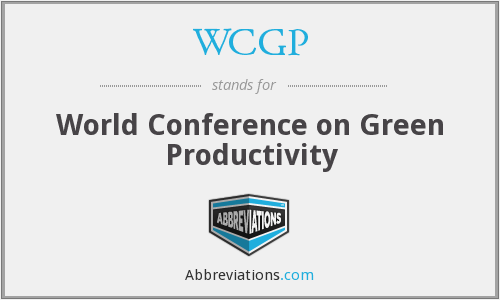 WCGP - World Conference on Green Productivity