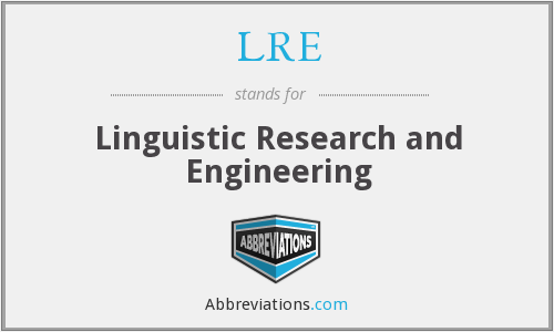 LRE - Linguistic Research and Engineering