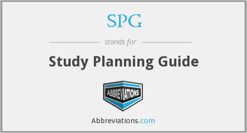 SPG - Study Planning Guide