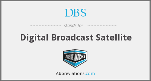 DBS - Digital Broadcast Satellite